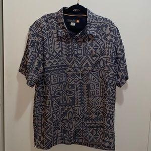 Quicksilver Mens Hawaiin Button Down Shirt XL